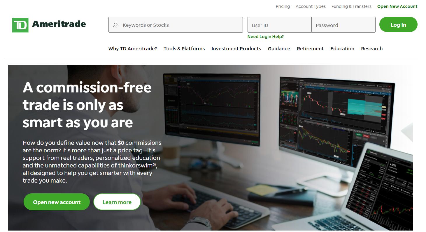 Ha iniziato il trading forex sulla piattaforma td ameritrade